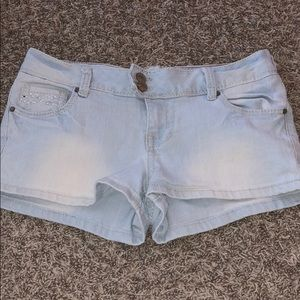 Amethyst Light Washed Jean Shorts